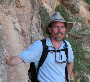 Ray in his favorite element - hiking a mountain trail.  Here Ray was on a hiking trip to Arizona and New Mexico