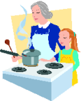 Cooking lessons from grandmother