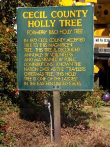 Holly Tree historic marker