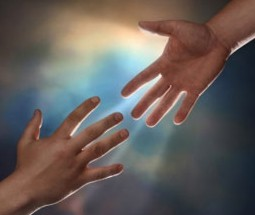 Reaching hands, new beginning